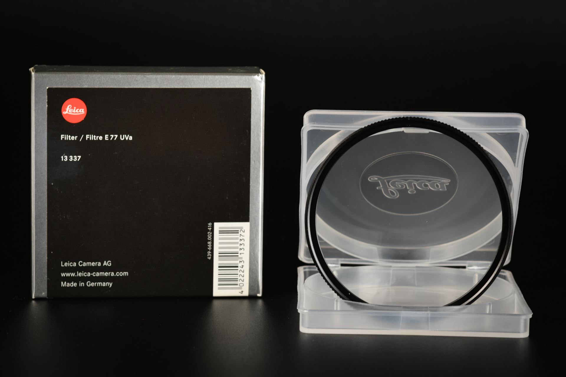 Picture of Leica E77 UVa 77mm Filter Black
