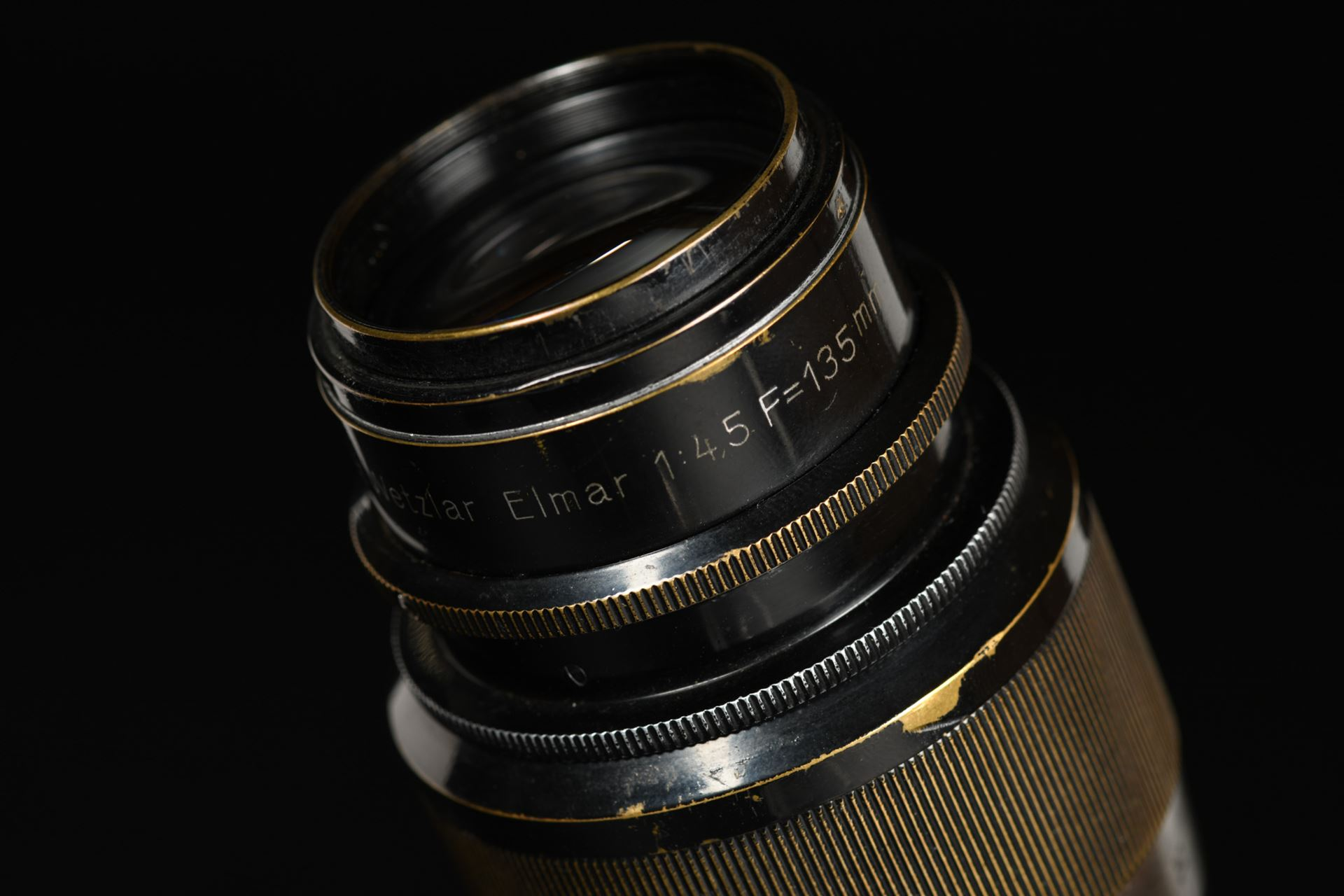 Picture of Leica Elmar 13.5cm 135mm f/4.5 Black Paint Non-Coupled Screw Mount LTM L39