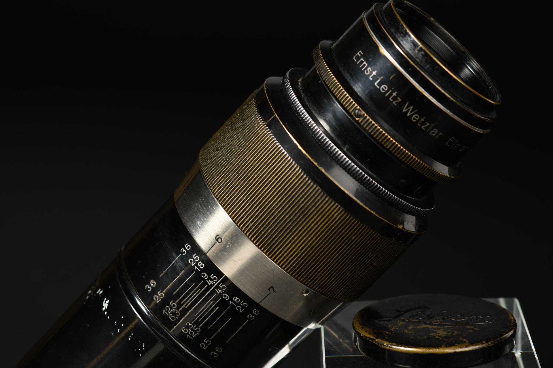 Picture of Leica Elmar 13.5cm 135mm f/4.5 Black Paint Non-Coupled Screw Mount LTM L39