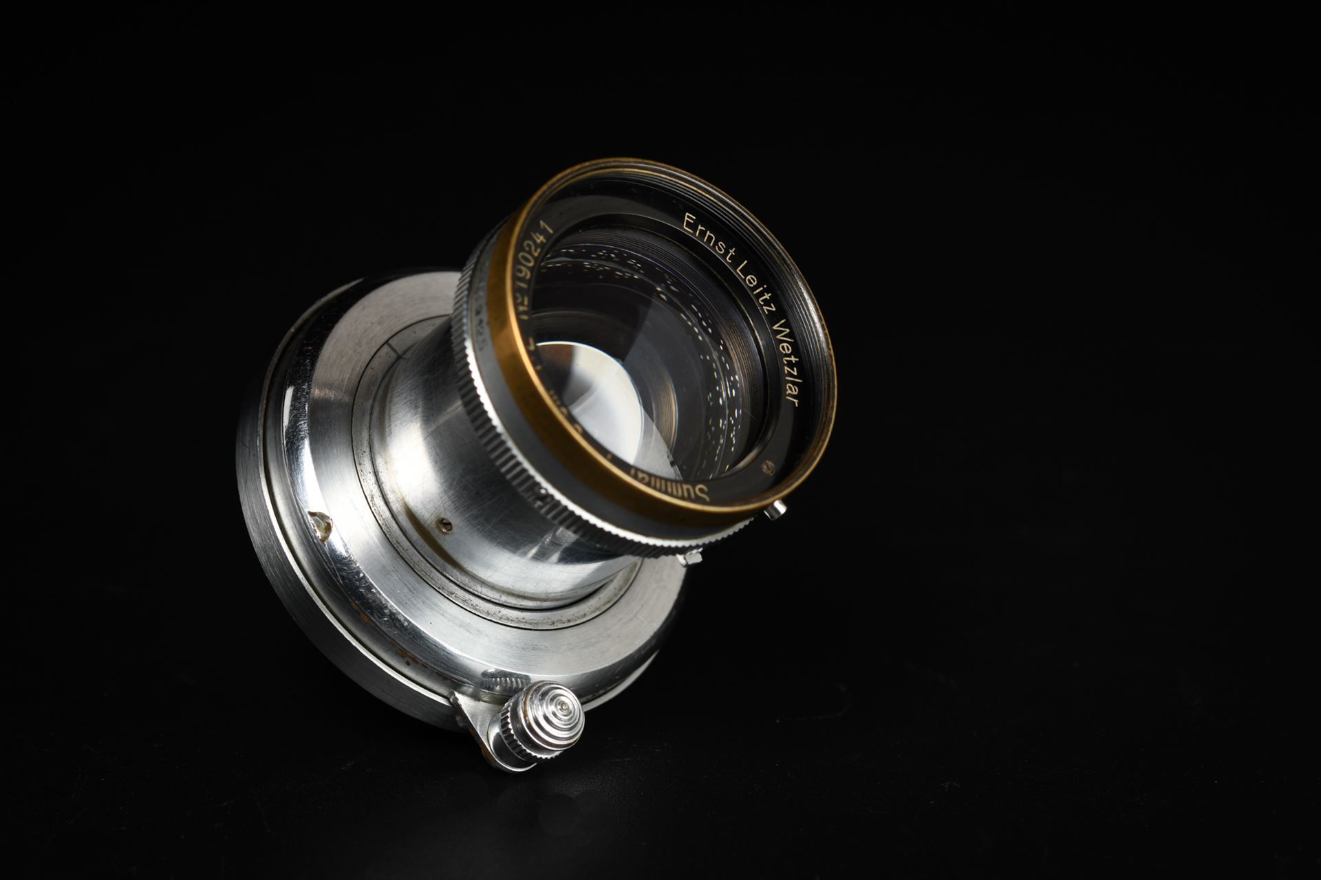 Picture of Leica Summar 5cm f/2 Silver Black Rim Screw LTM