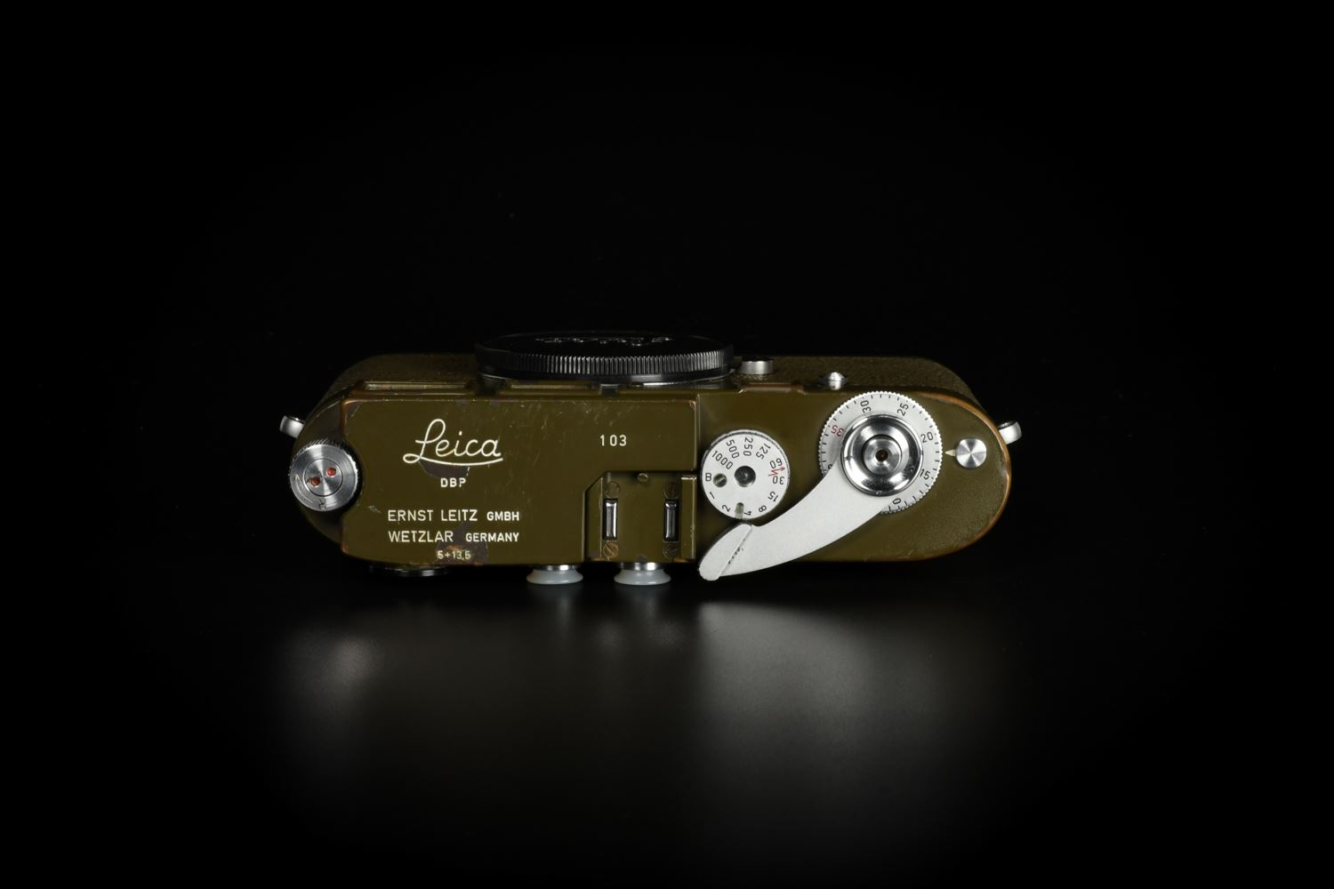Picture of Leica M1 Olive MP Top with Elmar-M 135mm f/4 Bundeseigentum