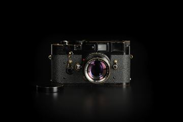 Picture of Leica M3 Black Paint with Summicron-M 50mm f/2 Ver.1 Rigid Black Paint