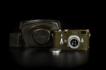 Picture of Leica M3 Olive First Batch with Elmar 5cm f/3.5 Bundeseigentum