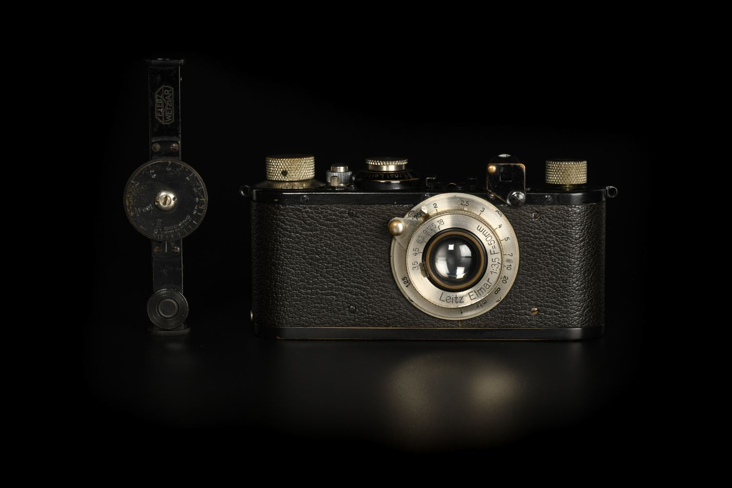 Picture of Leica Standard with FOKIN All Black Rangefinder and Elmar 5cm f/3.5 11 o'clock