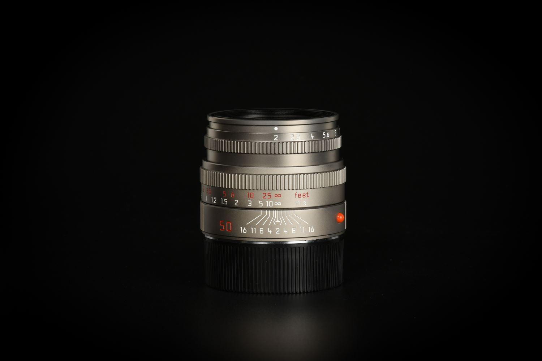 Picture of Leica Summicron-M 50mm f/2 Ver.5 Pre-ASPH E46 Titanium