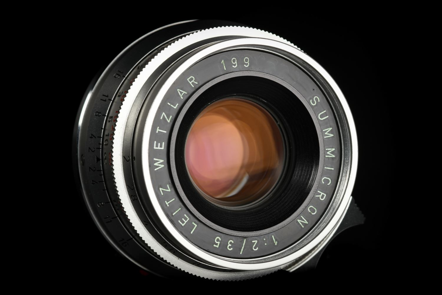Picture of Leica Summicron-M 35mm f/2 Ver.1 8-element Germany M2 Silver