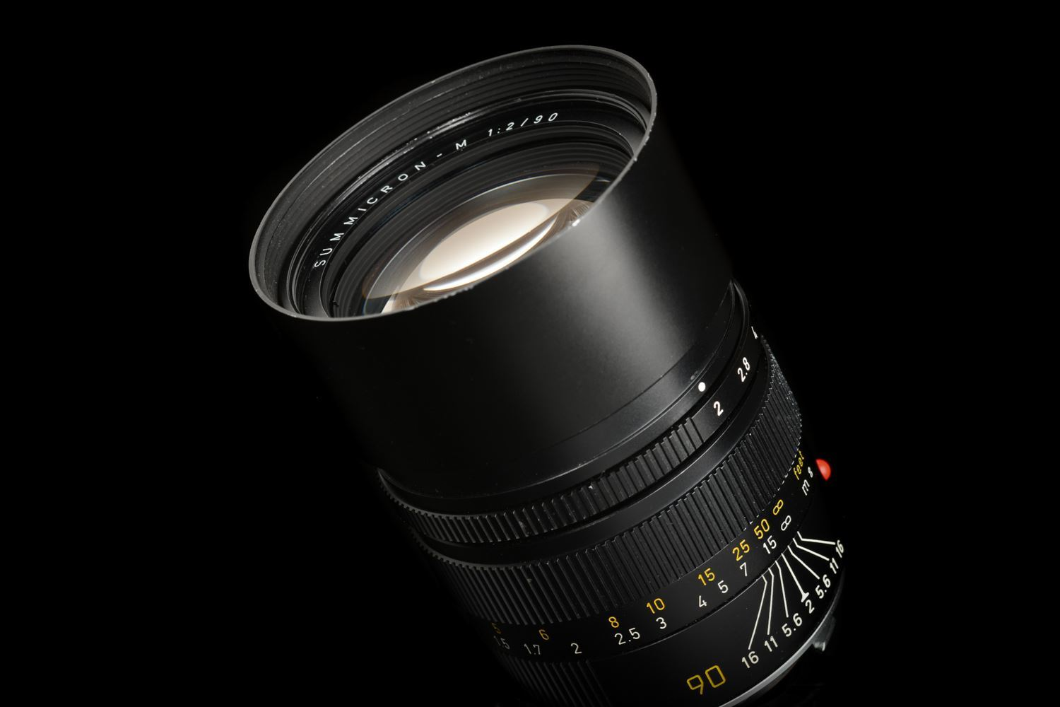 "Picture of Leica Summicron-M 90mm f/2 Ver.3 Pre-ASPH Black ""PRESS '84"""