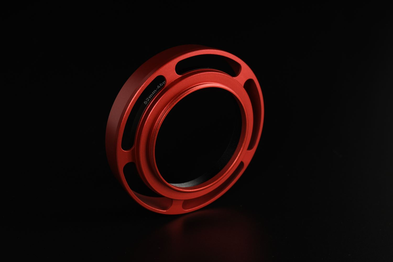 Picture of Red Ventilated Lens Hood made for Leica E46 lenses