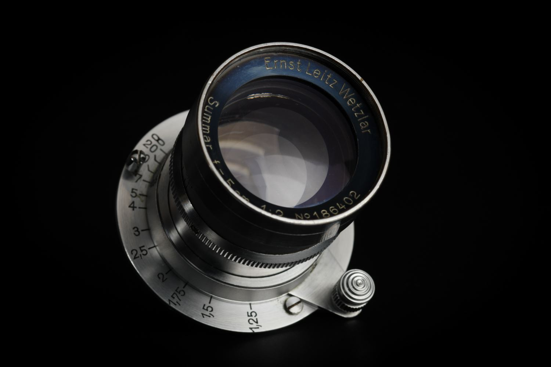Picture of Leica Rigid Summar 5cm f/2 Silver Chrome LTM
