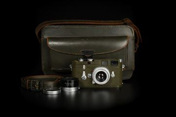 Picture of Leica M3 Olive Early First Batch with Elmar 5cm f/3.5 Bundeseigentum
