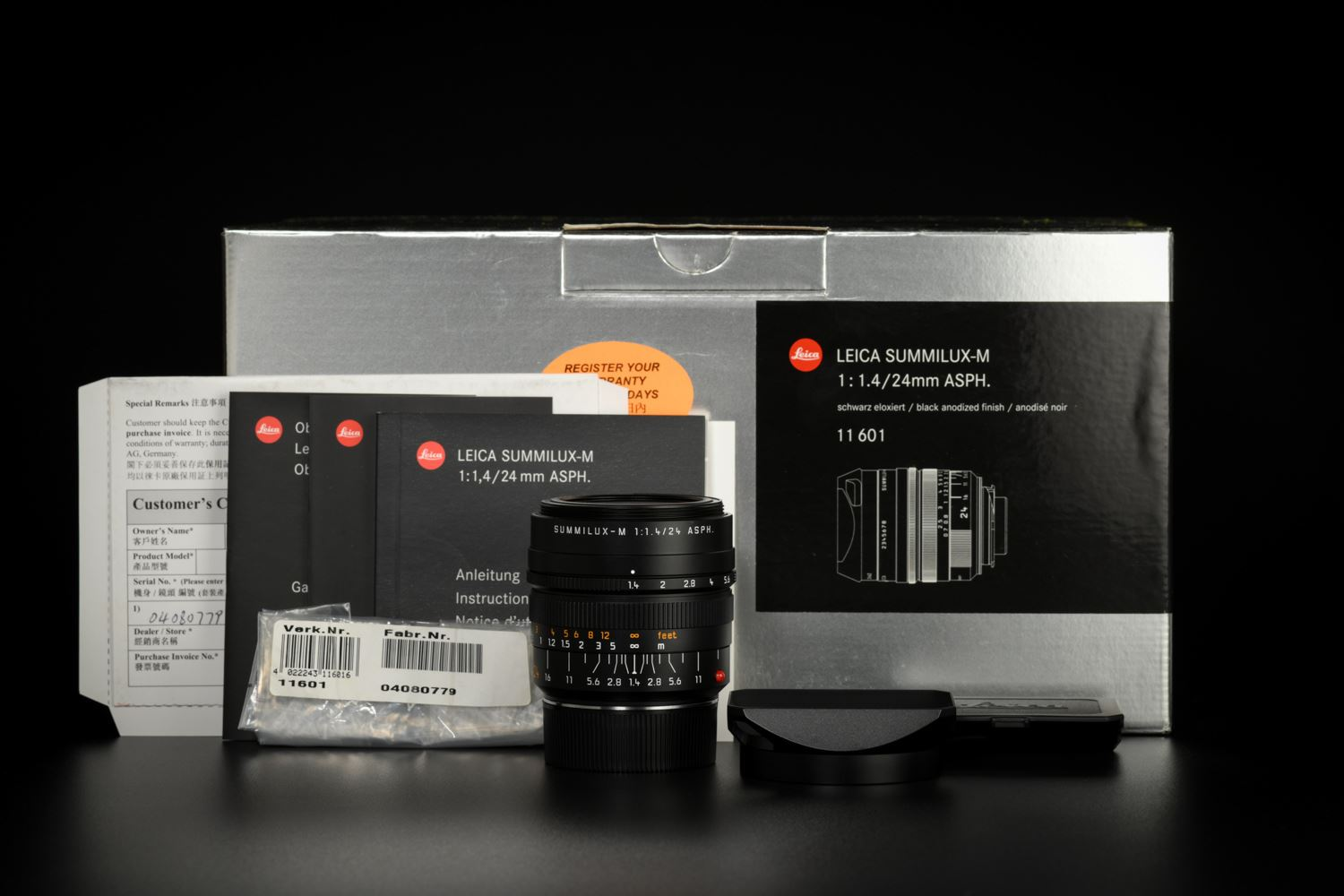 Picture of Leica Summilux-M 24mm f/1.4 ASPH Black