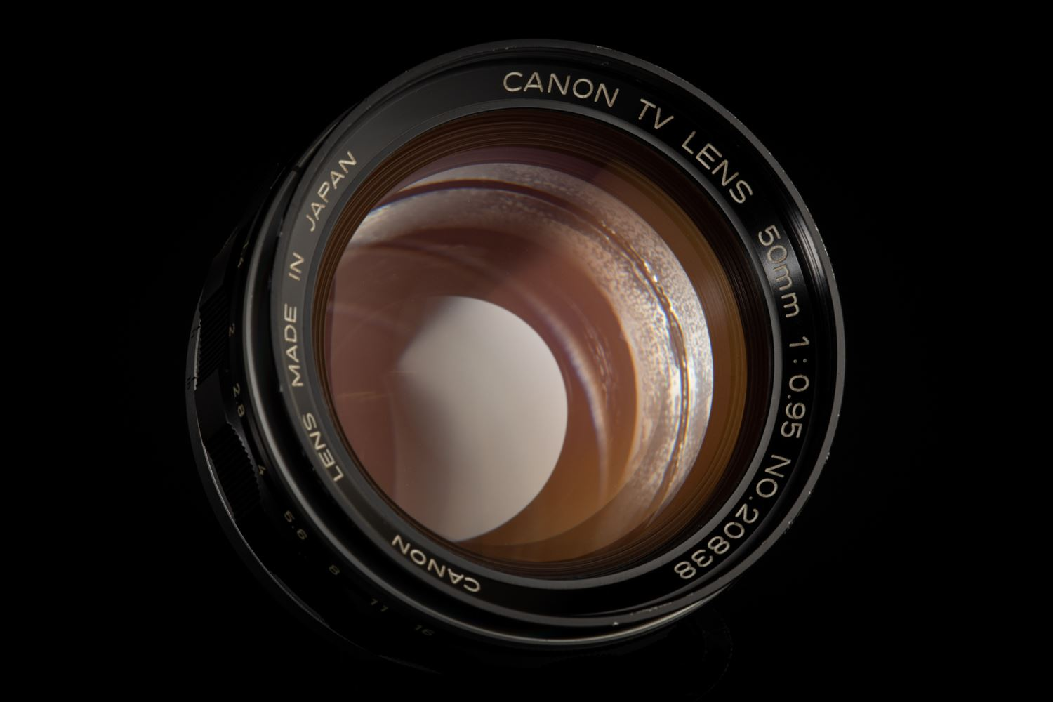Picture of Canon 50mm f/0.95 TV Lens modified to Leica M Mount
