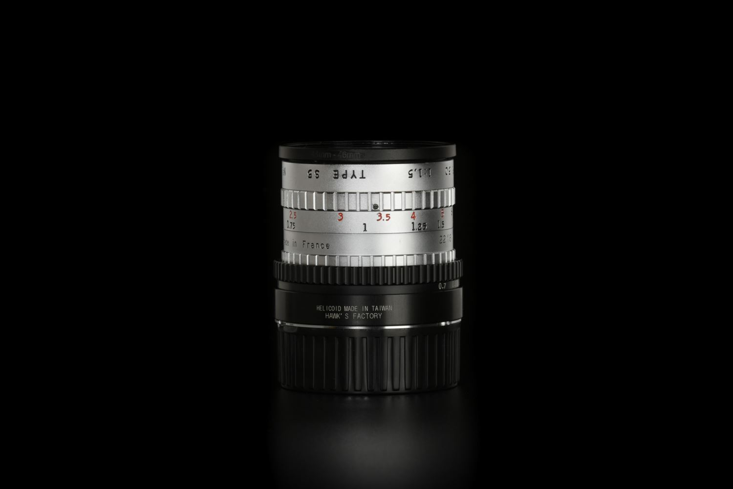 Picture of Angenieux Type S5 50mm f/1.5 Modified to Leica M