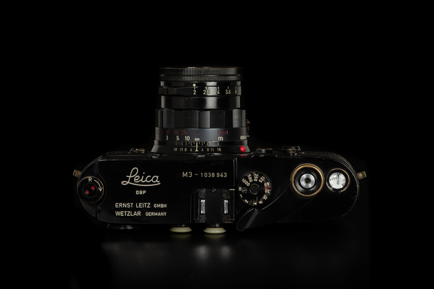 Picture of Leica M3 Original Black Paint with Leica Summicron-M 50mm f/2 Rigid Ver.2 Black Paint