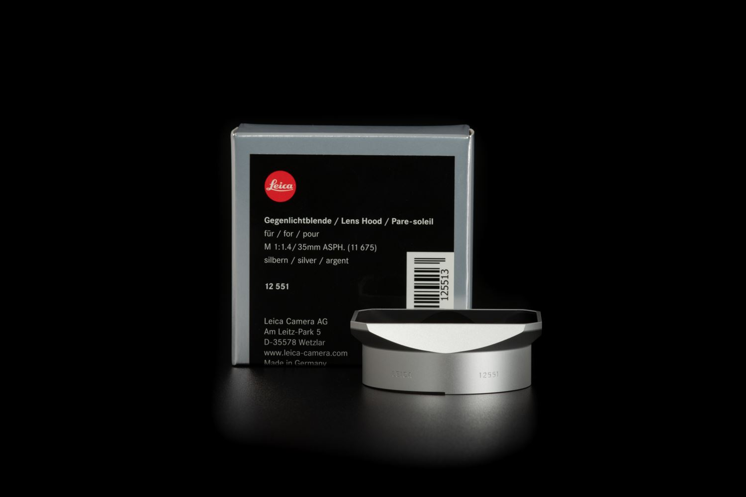 Picture of Lens Hood for Summilux-M 35mm f/1.4 ASPH Silver Anodize finish
