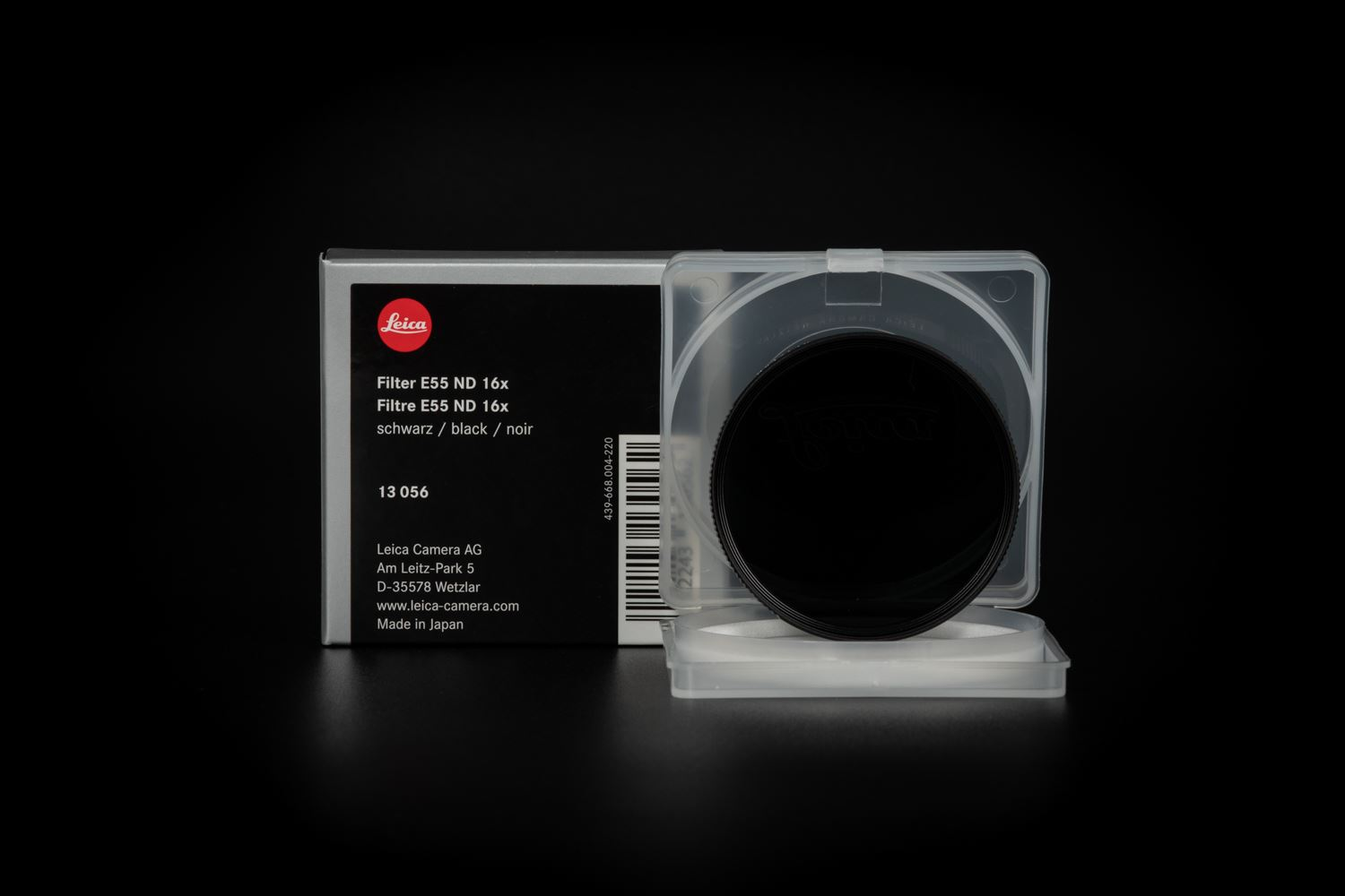 Picture of LEICA FILTER ND 16X E55  BLACK