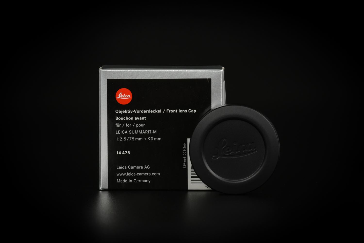 Picture of leica Lens Cap for M 28mm f/2, 35/50/75/90mm f/2.4 and 75/90mm f/2.5, black