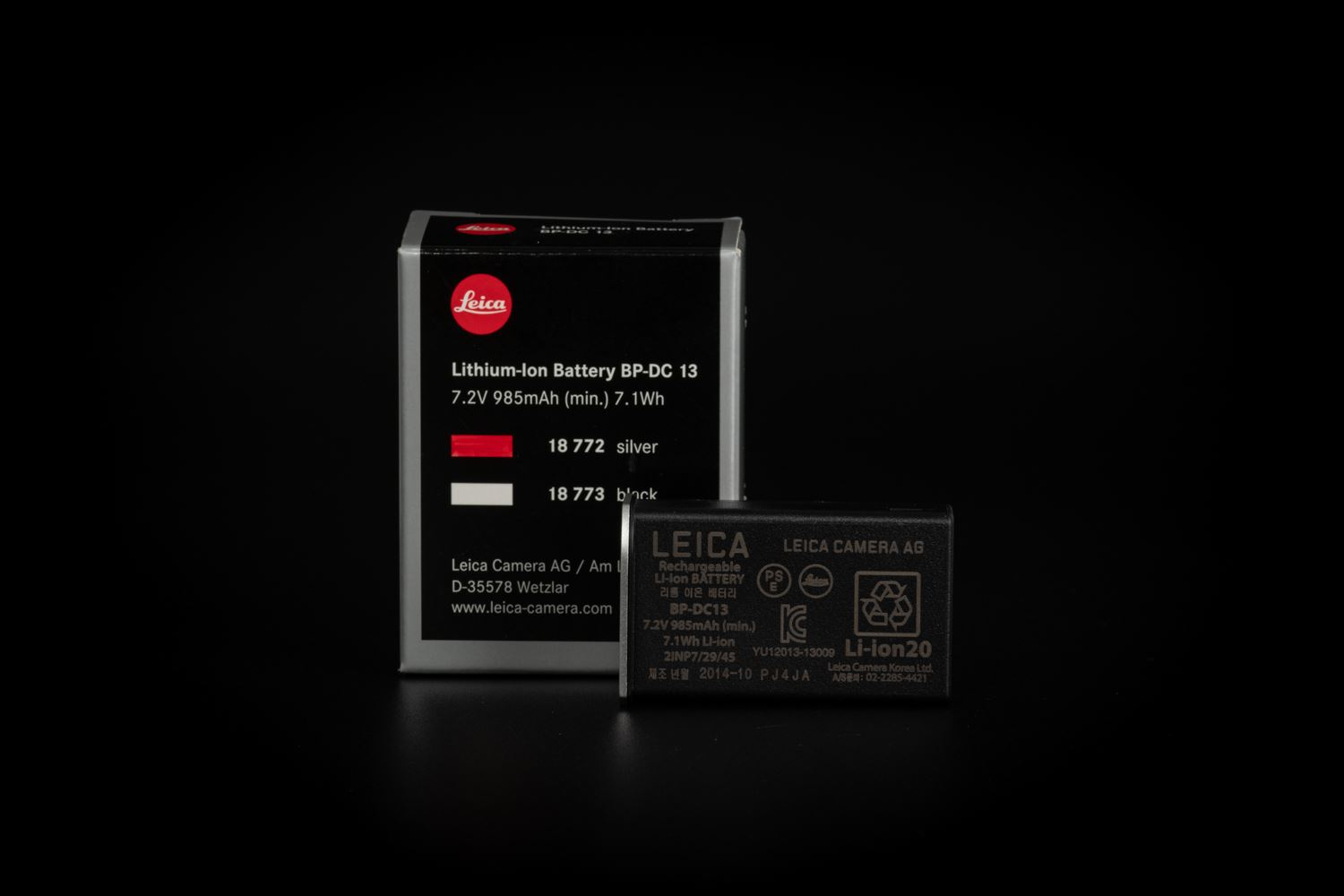 Picture of leica Lithium-Ion-Battery BP-DC13, silver
