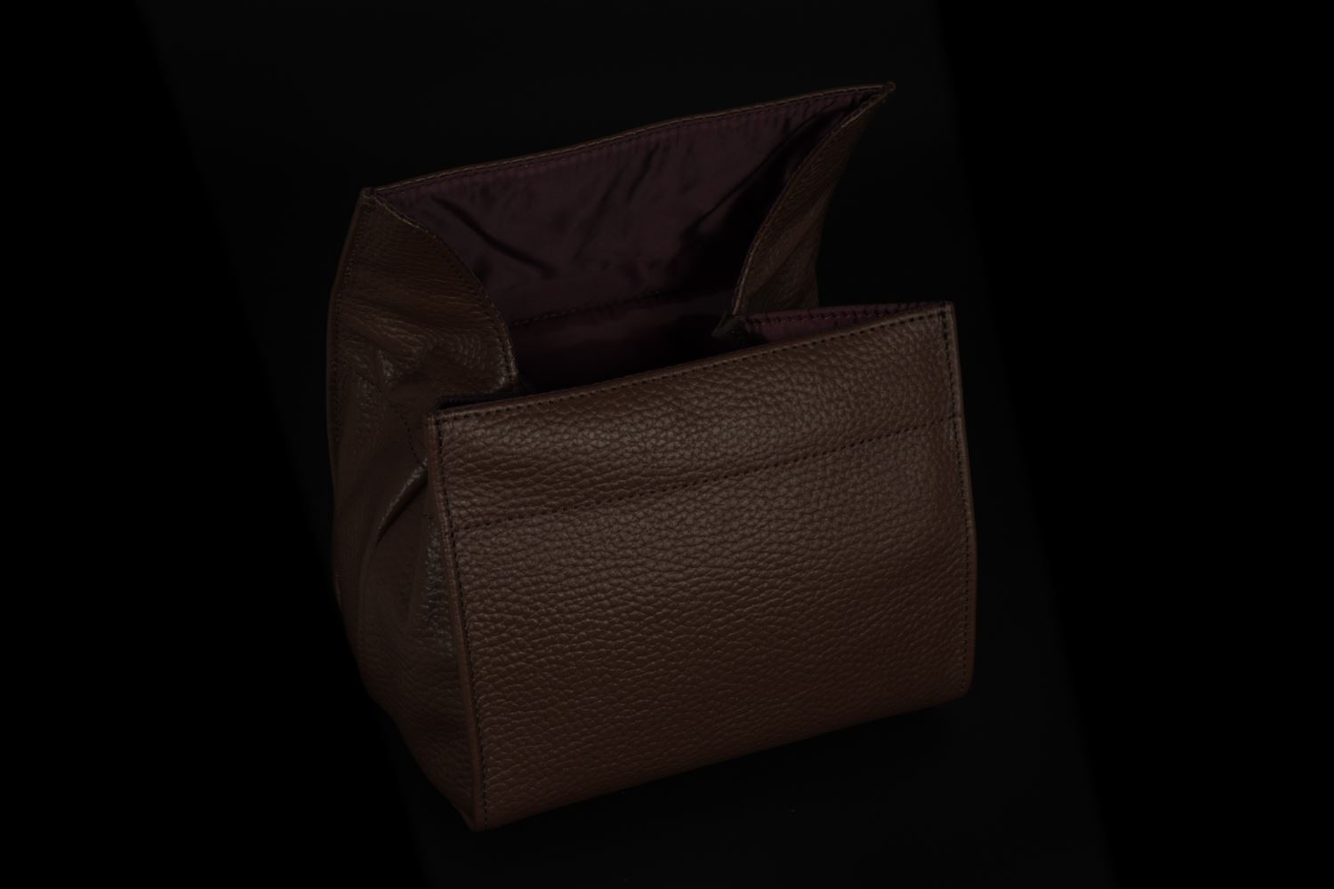 Picture of Artisan & Artist ACAM-78 Brown Large Leather Pouch