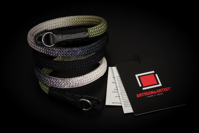 Picture of Artisan & Artist ACAM-316G Black/Khaki Silk Strap
