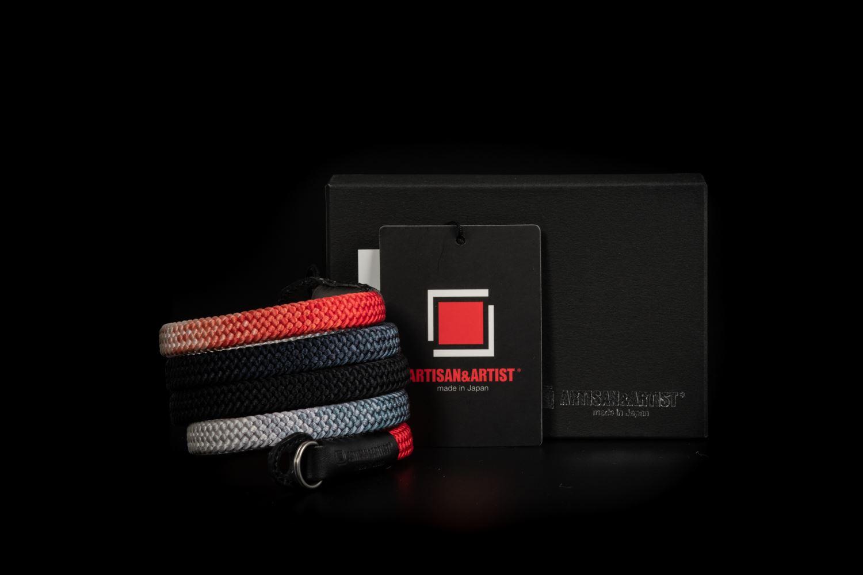 Picture of Artisan & Artist ACAM-316G Black/Red Silk Strap