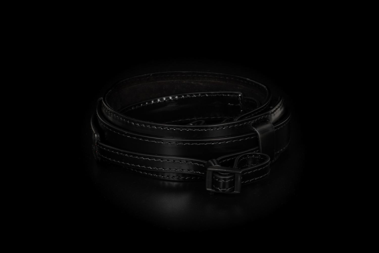 Picture of Angelo Pelle Neck Strap, Ferrara SL - Black French Calf