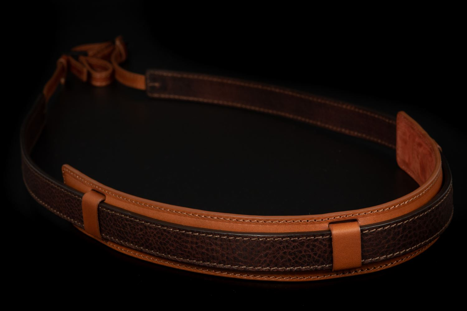 Picture of Angelo Pelle Neck Strap, Ferrara SL - Moka Brown