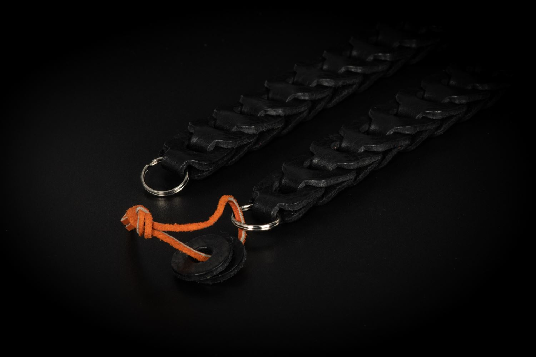 Picture of Angelo Pelle Neck Strap, Milano Vacchetta - Black, 103cm