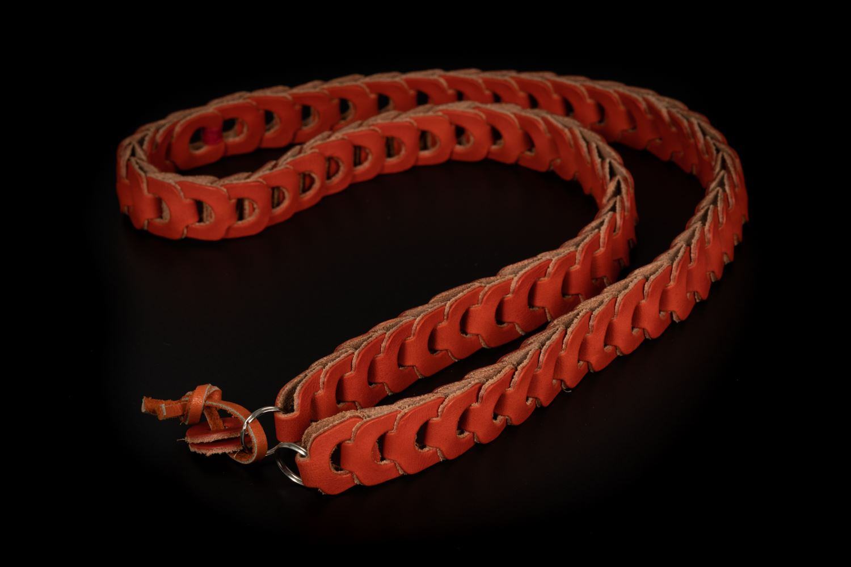 Picture of Angelo Pelle Neck Strap, Milano Vacchetta - Orange, 103cm