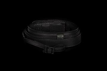 Picture of Angelo Pelle Neck Strap, Ferrara SL - Black with Real Crocodile Grey Loops