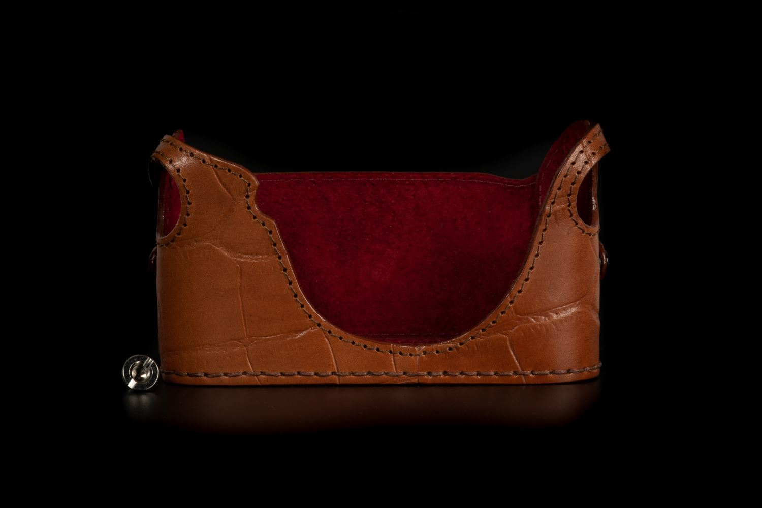 Picture of Angelo Pelle Half Case for M10 - Brown Crocodile Embossed