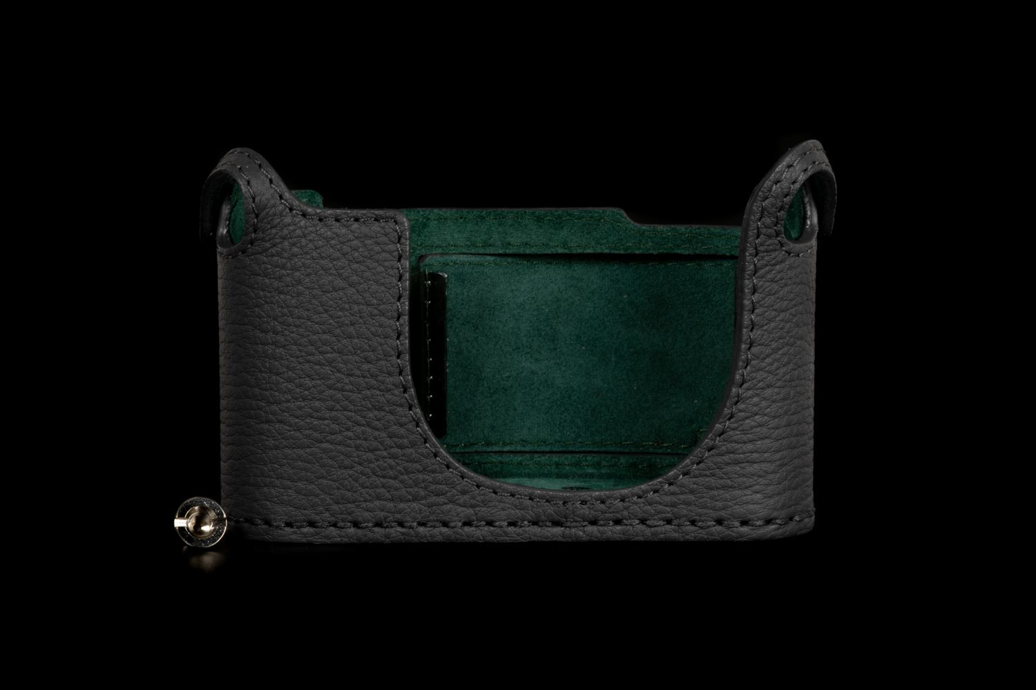 Picture of Angelo Pelle Half Case for Q2 - Grey French Calf