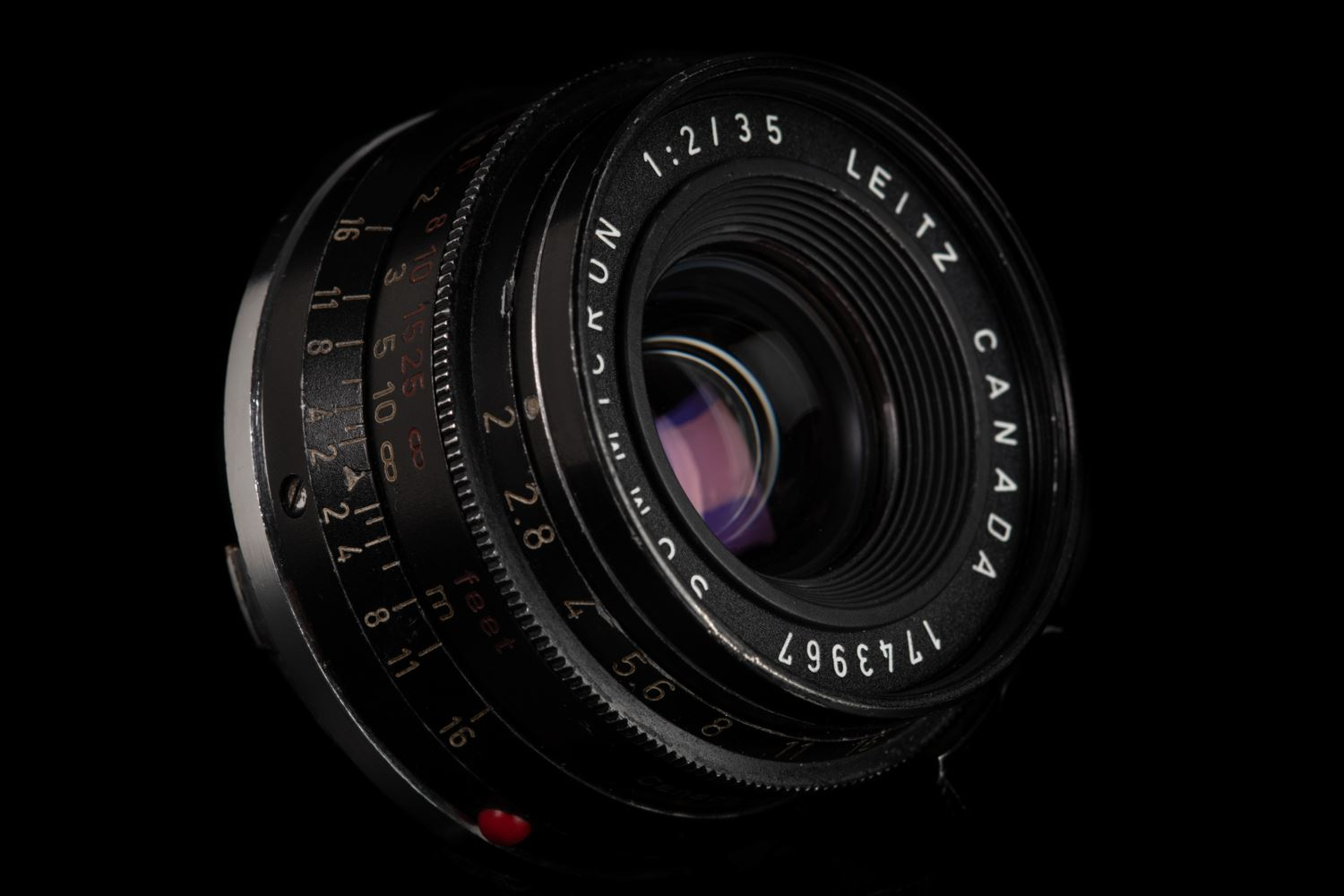 Picture of Leica Summicron-M 35mm f/2 Ver.1 canada 8-element Black