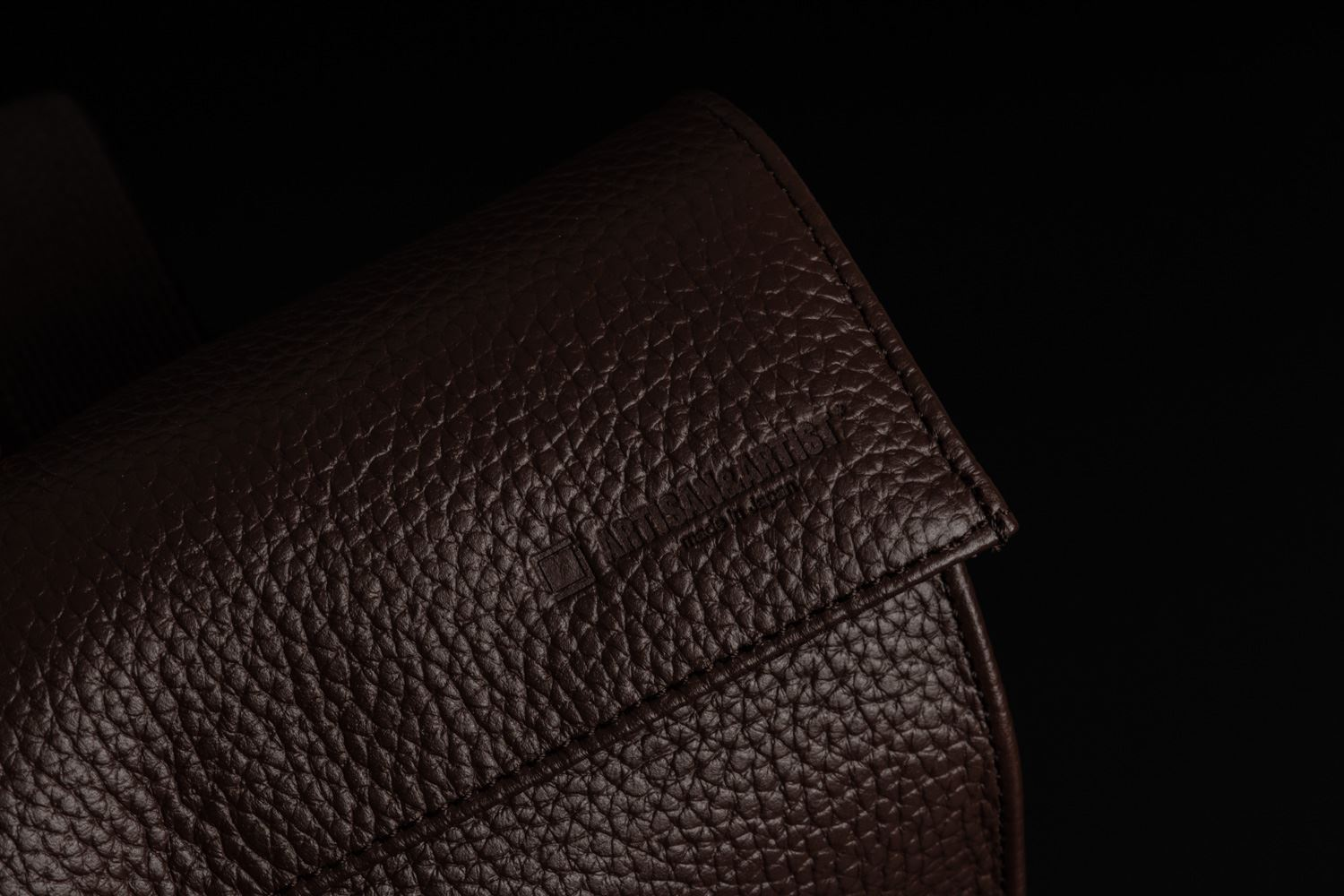 Picture of Artisan & Artist ACAM-77 Brown Leather Pouch