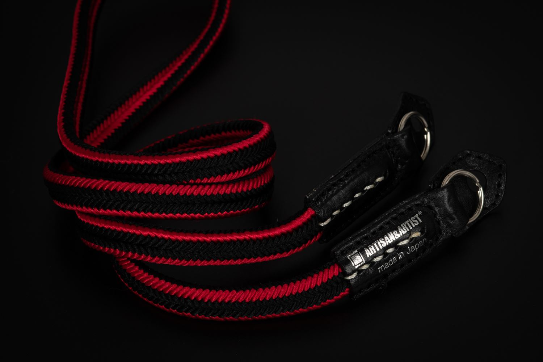 Picture of Artisan & Artist ACAM-310N Black/Red Silk Strap