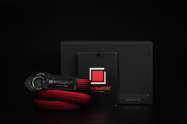 Picture of Artisan & Artist ACAM-312N Black/Red Silk Strap