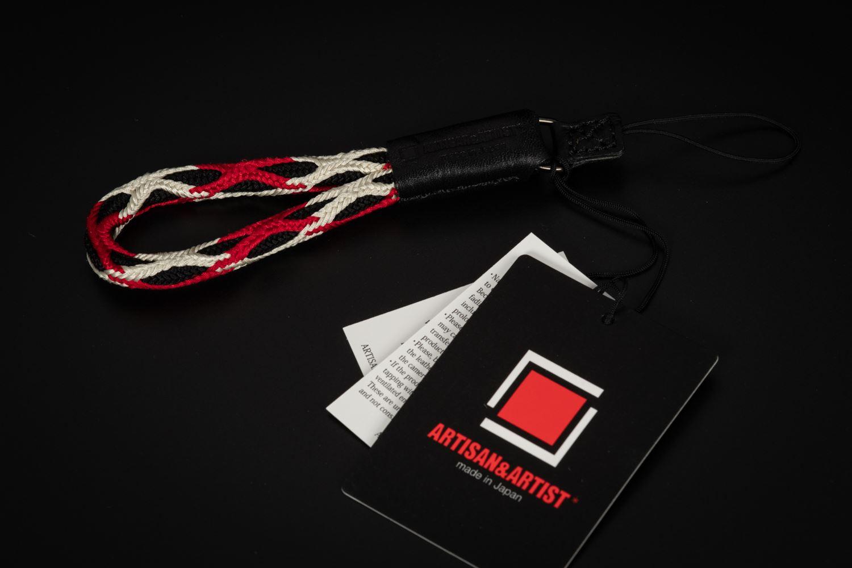 Picture of Artisan & Artist ACAM-315N Black/Red Silk Hand Strap