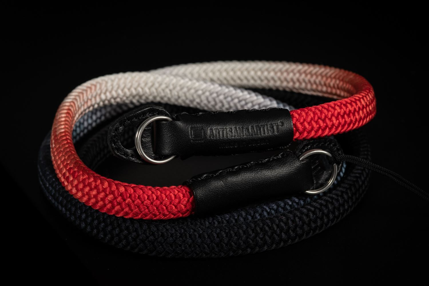 Picture of Artisan & Artist ACAM-316G Black/Red Silk Strap