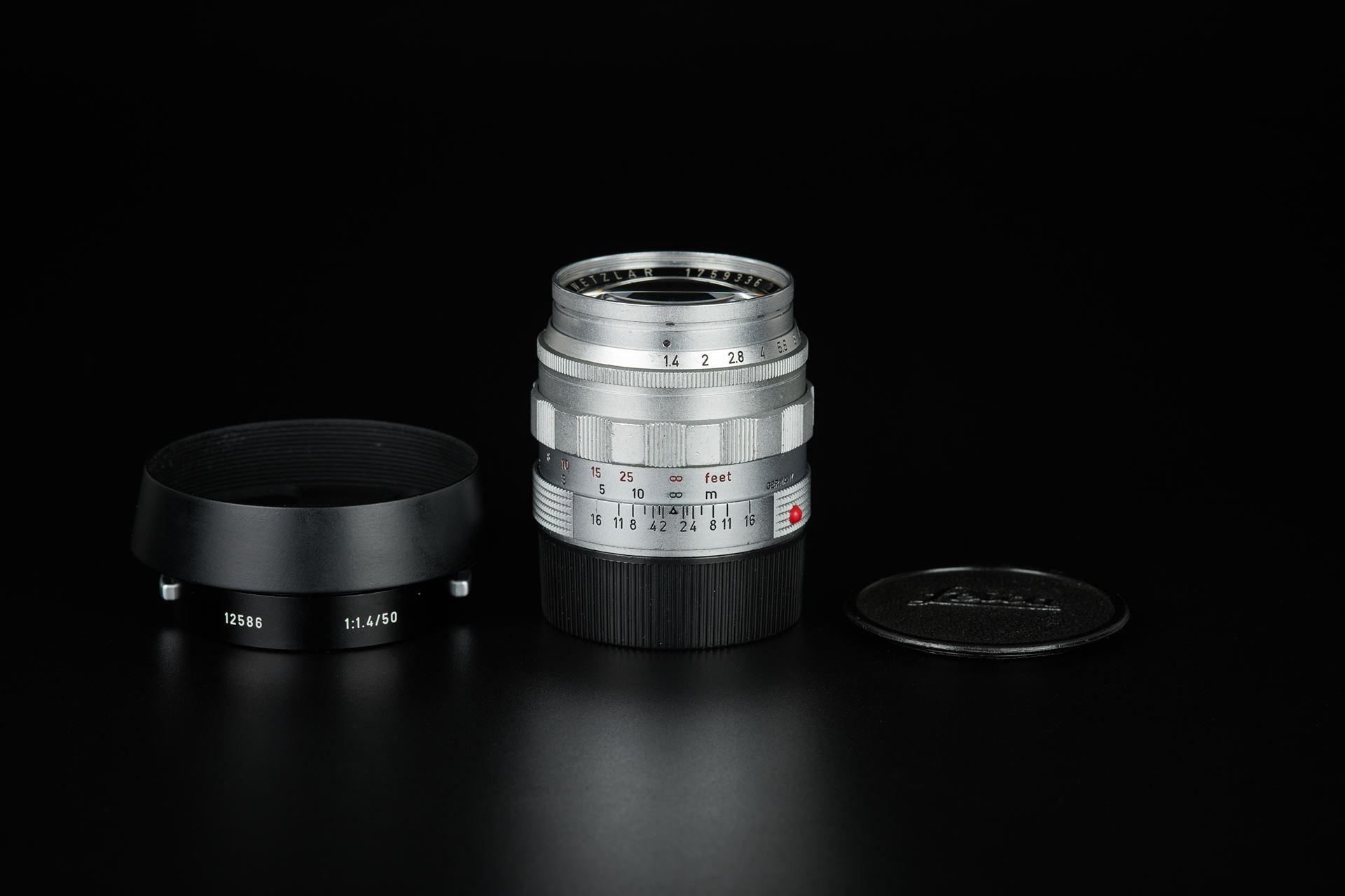 Picture of leica summilux 50mm f/1.4 ver.1 e43 silver