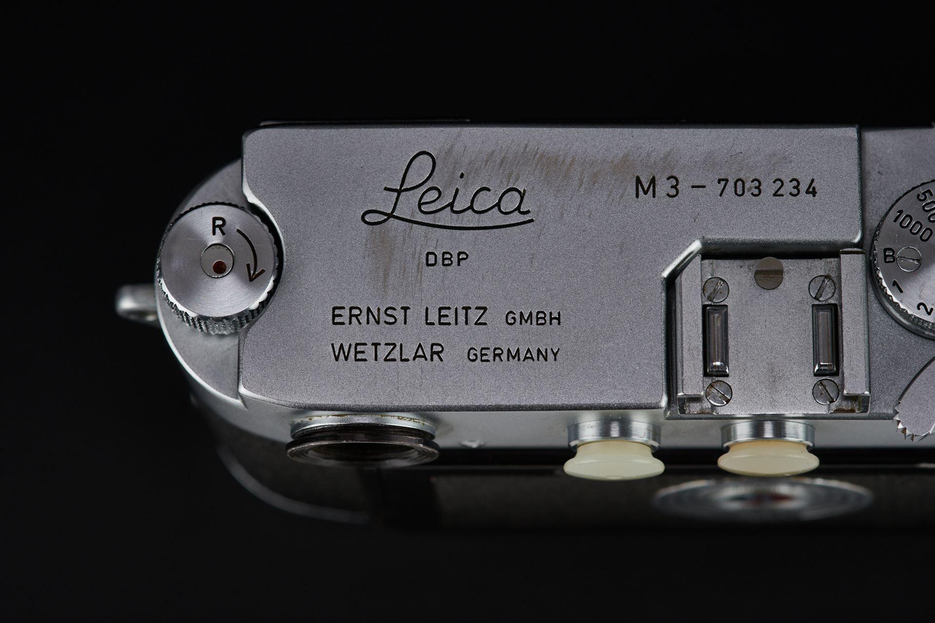 Picture of leica m3 silver double stroke w/ elmar 5cm f/3.5